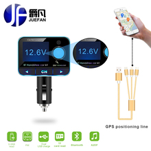 new LCD FM Modulator Wireless Bluetooth fm transmitter handsfree car kit Car Battery Voltage Display usb Charger MP3 player