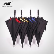 NX Large Golf umbrella Double-layer man and women's Semi automatic sun Business strongs windproof handle outdoor long umbrella