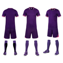 Purple Color 17 NEW Model Customized Woman Girls Ladies Soccer Sets Football Team Club Group Soccer Uniforms Suits Free Shipping