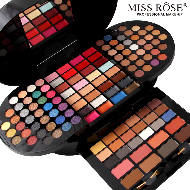MISS ROSE 130 Colors Professional Women Makeup Palette Sets Lips Face Eyes Brand Multi-layer Make Up Sets Brand Palette<br>
