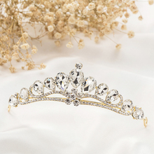 Wedding Bridal Tiara Princess Crown Crystal Rhinestone Crown Tiara Headband Wedding Hair Accessories Vintage Bridal Gold Crown