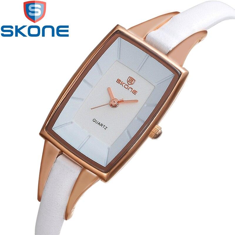 SKONE Rectangle Quartz Watch Woman Superfine Leather Strap Ladies Fashion Wrist Watches Elegant Womens Dress Wristwatch Hours<br>