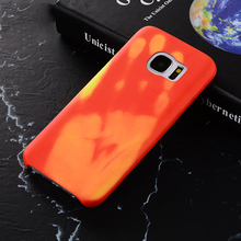 Magic Physical Thermal Sensor Hot Discoloration Strain Temperature Case For Samsung S7 S7 Edge S8 Plus S8 S6 S6 Edge J510 J710(China)