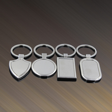 4 Designs Newest Metal Blank Keychains Advertising Keyrings for Promotional Gifts FREE shipping(China)