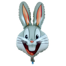 Free shipping new children's toys rabbit head Foil Balloons birthday party decoration balloon wholesale