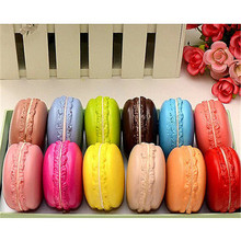 Cute Soft Dessert Macaron Squishy Cute Cell phone Charms Key Straps Gift Handbag Decorative Strap Send Randomly
