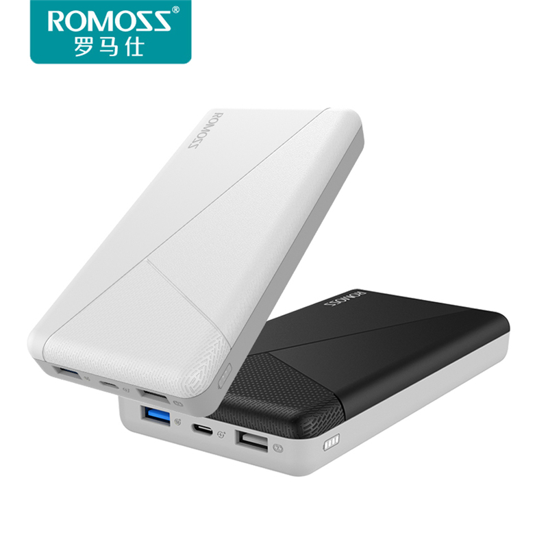 Original ROMOSS Powerbank 20000mAh QC3.0 Fast Charge iPhone X Mobile Power Bank Two-way Fast Charging External Battery Pack