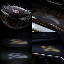 SILVER and GOLD emblem interior car body metal sticker for Cadillac XT5 SRX CT6 CTS Escalade ATS XTS ELR STS DeVille