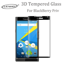 9H 3D Curved Surface Full Screen Cover Explosion-proof Tempered Glass Film for Blackberry Priv