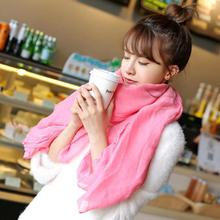 2016 New Fashion Winter Women Scarf Vintage Ladies Solid Color Black Red White Scarves Warp shawl female bufanda mujer cachecol