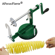 1 Pc Potato Twister Potato Slicer Stainless Steel Kitchen Accessories Tornado Slicer Manual Cutter Spiral Chips(China)