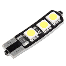 1PCS T10 194 168 W6W 6SMD 5050 Canbus Car LED Light Bulb White For Car Tail light Side Parking Dome Door Map light(China)