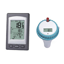 2017 New 1Pc Professional Wireless Floating LCD Display Digital Waterproof Swimming Pool SPA Floating Thermometer With Receiver(China)