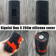 Best selling products Sigelei Fuchai duo-3 3 batteries mod cover Aliexpress Original Fuchai duo3 255W silicone case