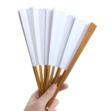 Chinese Style Bamboo Paper Pocket Fan Folding Foldable Hand Held Fans Wedding Favor Event Party Supplies(China)