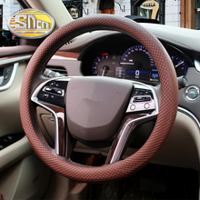SNCN 38CM Four Seasons Used Micro Fiber Leather Durable Antiskid Car Steering Wheel Cover For Mitsubishi Lancer Triton L200(China)