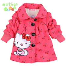 new baby girl winter coat 2017 Children Outerwear, girls Hello Kitty Winter Coat, baby& kids jackets, girl's clothing
