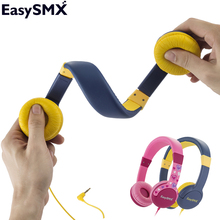 EasySMX KM-666 Portable Kids Headphones Safely Children Over-Ear Headset with  Adjustable headband for Xiaomi Samsung Smartphone