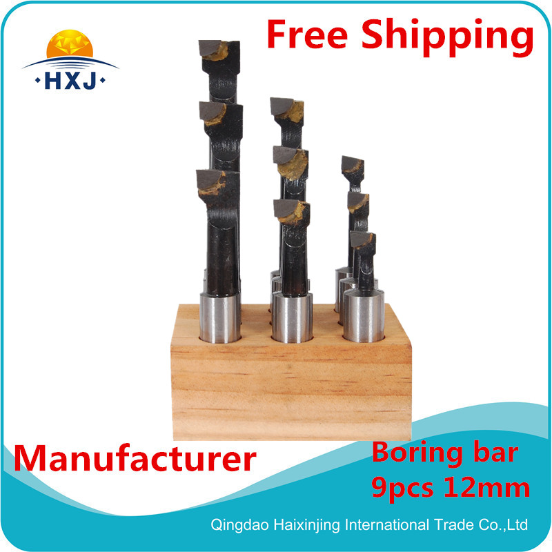 12mm 9pcs/set, Carbide tipped boring bar set 12mm <br><br>Aliexpress
