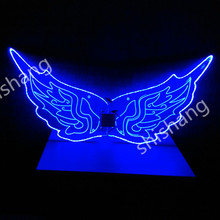 CY02 LED light colorful stage show costumes butterfly ballroom dancing wing party bellydance dresses dj disco model party wears