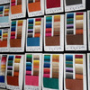 via DHL/ Fedex/ UPS Sample Card Swatch