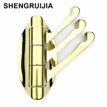 SHENGRUIJIA new good quality cheap price gold towel hooks metal wall hooks durable wall mounted hanger wall hanger for clothes(China)