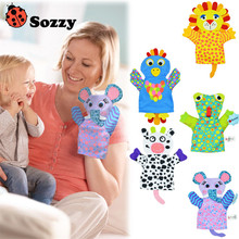 Sozzy animal hand puppet / bath towel Baby toy eether rattle chicco tiff 925 pram teethers maracas playgro(China)