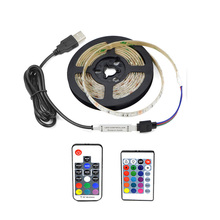 3528 USB LED Strip Light 5V Color Changing String Tape Ribbon Waterproof White/ Warm 1M 2M 3M 4M 5M RGB RF Or IR Controller DIY(China)