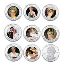 999.9 Silver Coin The Princess Diana 20th Anniversary Challenge Home Holiday Gifts Metal Coins Art Ornament Collections