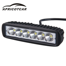 18W LED Small Strip Car Concentrating Floodlight Waterproof Shockproof Off-road Vehicle Truck ATV 4x4 LED Driver Roof Lighting