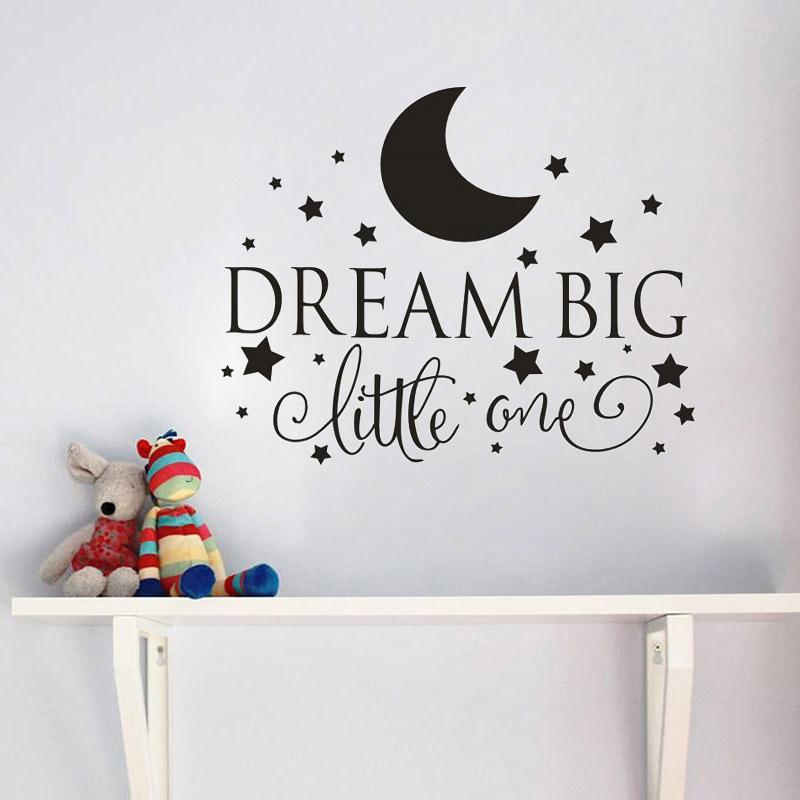 HTB1vPcYSXXXXXXdaFXXq6xXFXXX2 Dream Big Little One Quotes Wall Decal