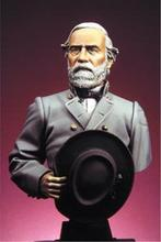 Free Shipping 1/12 Scale Unpainted Resin Bust General Robert E. Lee(China)