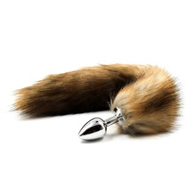 Buy Faux Fox Tail Plug Anal Butt Plug Anal Plug Tail Sex Toys Women Adult Sex Products Stainless Steel Metal