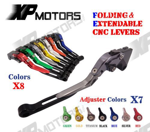 CNC Folding &amp; Extending Brake Clutch Lever For Suzuki GS500 1989-2008 GS500E 1994-1998 GS500F 2004-2009 NEW<br>