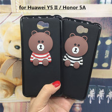 3D Soft Silicone Phone Case Cover for Huawei Y5 II Y5II 2 / Honor 5A LYO-L21 Original Cute Back Covers Cartoon Cases Capa Funda(China)