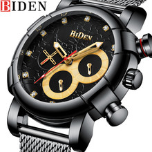 Buy BIDEN Chronograph Men Watch Top Brand Luxury Military Sport Male Clock Stainless Steel Mens Watches Business Quartz Clocks 0086 for $24.88 in AliExpress store