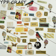 YPP CRAFT Vintage Delicate Vellum die cut Stickers for DIY scrapbooking/photo album/ Planner Decoration Crafts Happy Memory(China)