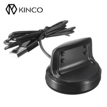 KINCO Black Smart Watches Chargers High Quality USB Charging Cradle Dock Charger For Samsung Gear Fit 2 Smart Watch SM-R360(China)