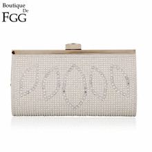 New Spring Collection Silver Crystal Diamond Women Evening Clutches Bag Metal Frame Bridal Wedding Party Unique Handbags Purses