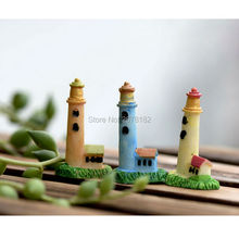 3pcs Zakka Artificial Mini Lighthouse Beacon Micro Landscaping Decoration Small World Plastic Craft DIY Accessories