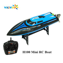 VICIVIYA H100 30KM/H RC Boat 4 Channel High Speed Racing Boat Remote Control Electric Mini Airship 2.4GHz Boat with LCD Screen ^