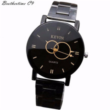 Hot marketing Design Black Stainless Steel Band Round Dial Quartz Wrist Watch Women Hight Quality Gift