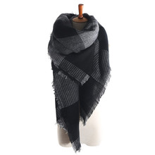 za Arrival Wool Blend Blanket Oversized Tartan Scarf Wrap Shawl Plaid Checked Pashmina
