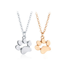 H:HYDE Hot Gold Color Chokers Necklace Cat and Dog Paw Print Animal Women Jewelry Lovely Delicate Pendant Statement Necklaces