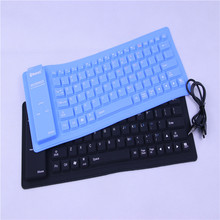 Foldable Flexible Mini Wireless Bluetooth Silicone Keyboard Slim Teclado Soft Universal Gamer Portable Roll-up PC Ipad Laptop