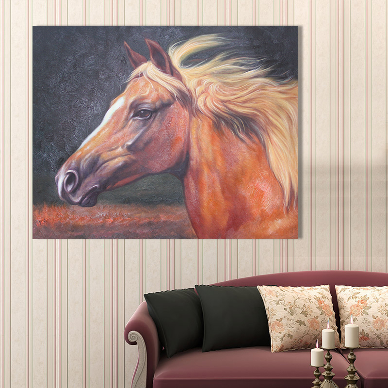 Horse painting on canvas