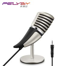Computer Games Metal SF-700 Microphone Video Chat Connect the phone, 3.5mm condenser microphone for Skype, for Youtube and so on(China)