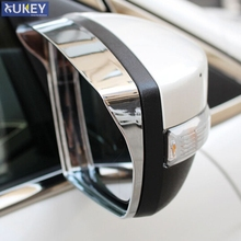 Fit For Ford Escape Kuga Chrome Door Side Mirror Rain Snow Guard Visor Trim Bezel Shade Cover Garnish Frame 2013 2014 2015 2016(China)