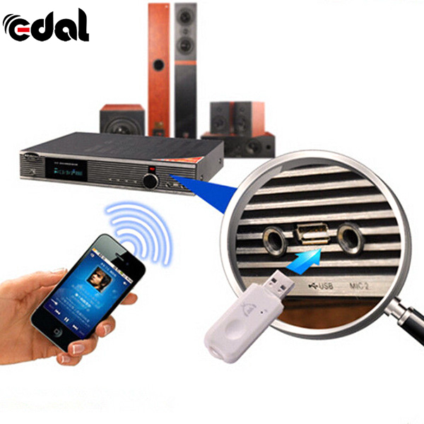 EDAL Wireless Bluetooth USB Receiver Bluetooth Stereo Audio Receiver4.0 USB Amplifier Speaker Music Converter