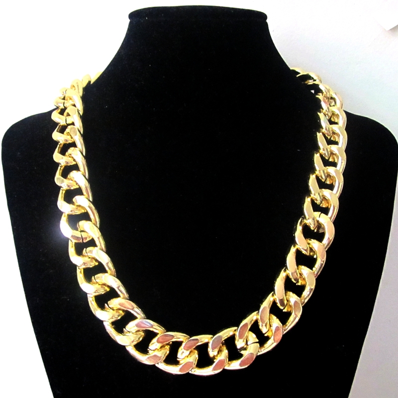 Fashion Women Jewelry Accessories Big Thick Gold Metal Colorful Enamel Epoxy Chain Link Necklaces